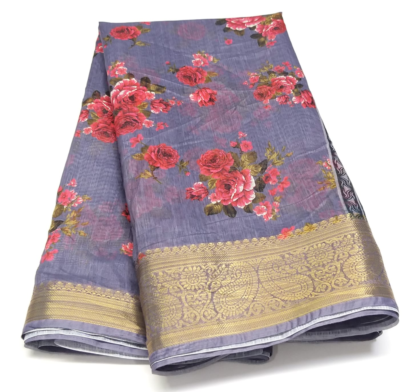 Rambha-1 Purple Cotton Saree