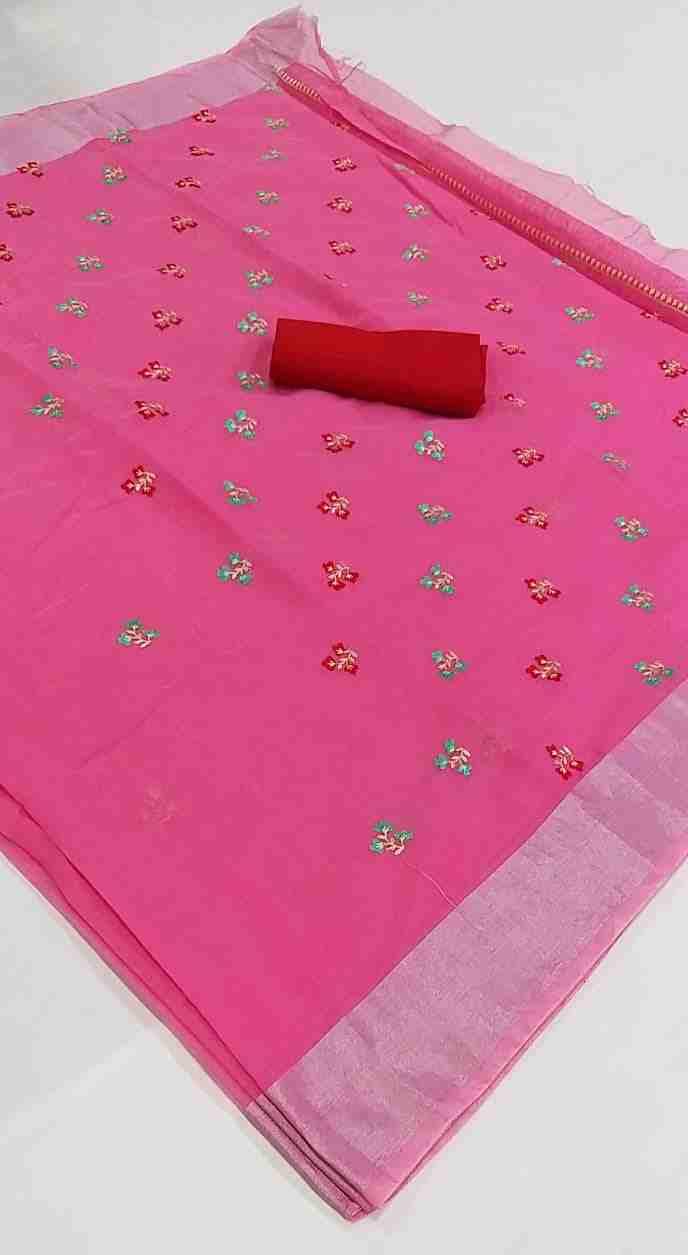 Ajrakh-4 Pink Chanderi Saree
