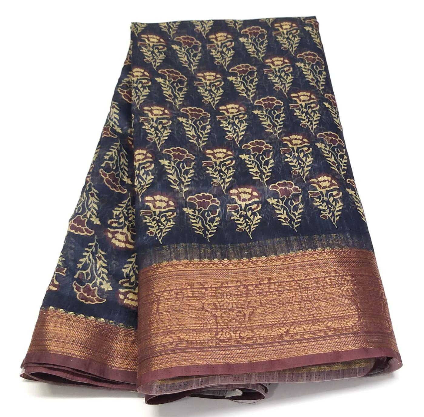 Rambha-1 Voilet Cotton Saree