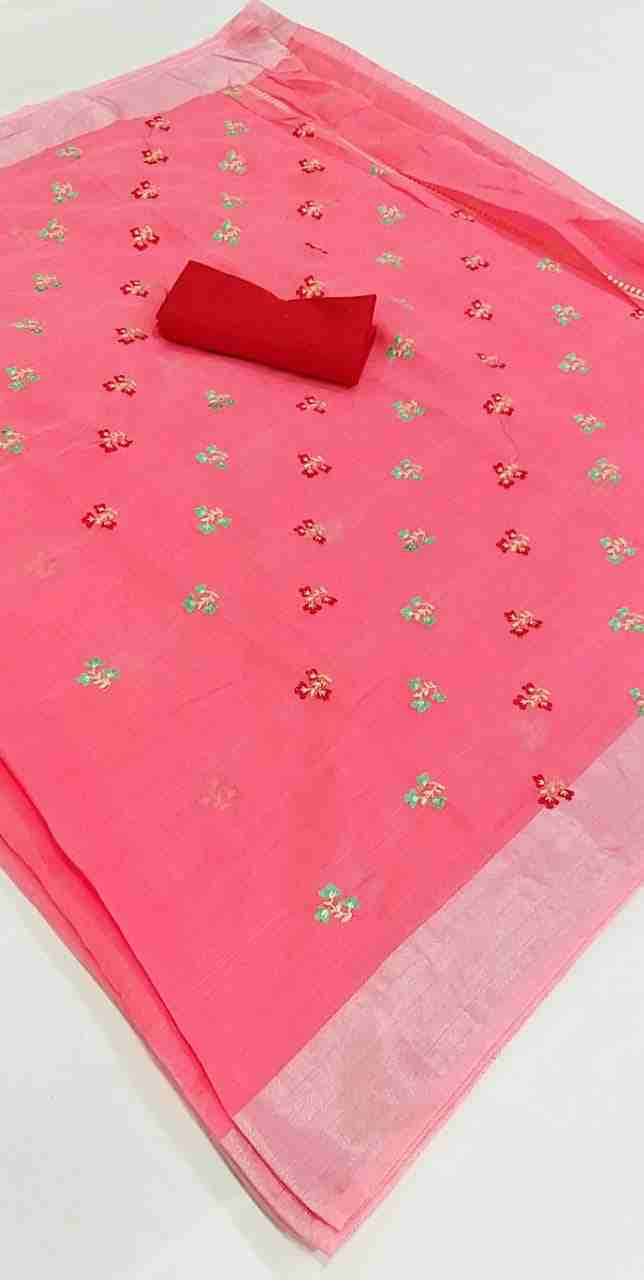 Ajrakh-4 Light Pink Chanderi Saree
