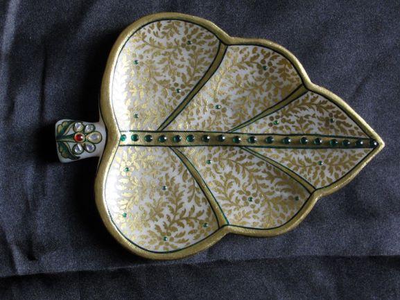 Marble Leaf Platter