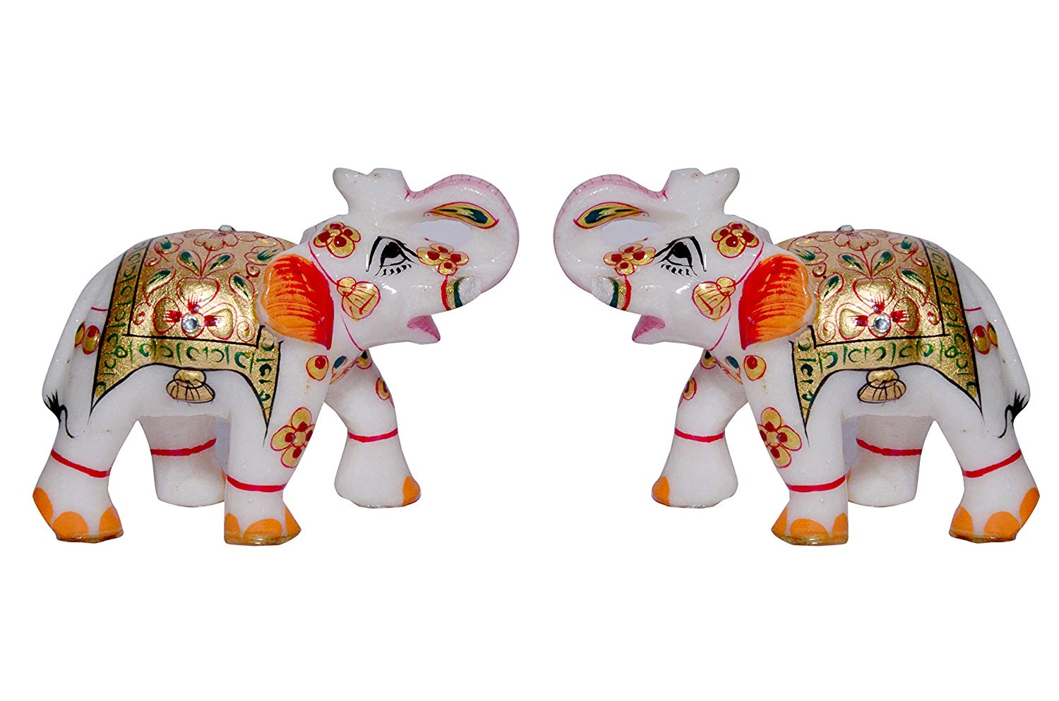 MARBLE DECORATIVE WITH HANDPAINITNG  ELEPHANT