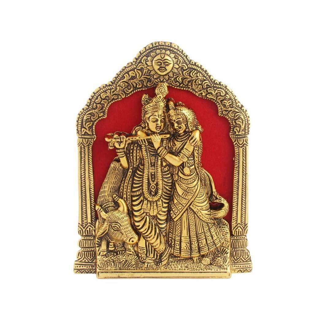 Metal Hanging Radha Krishna