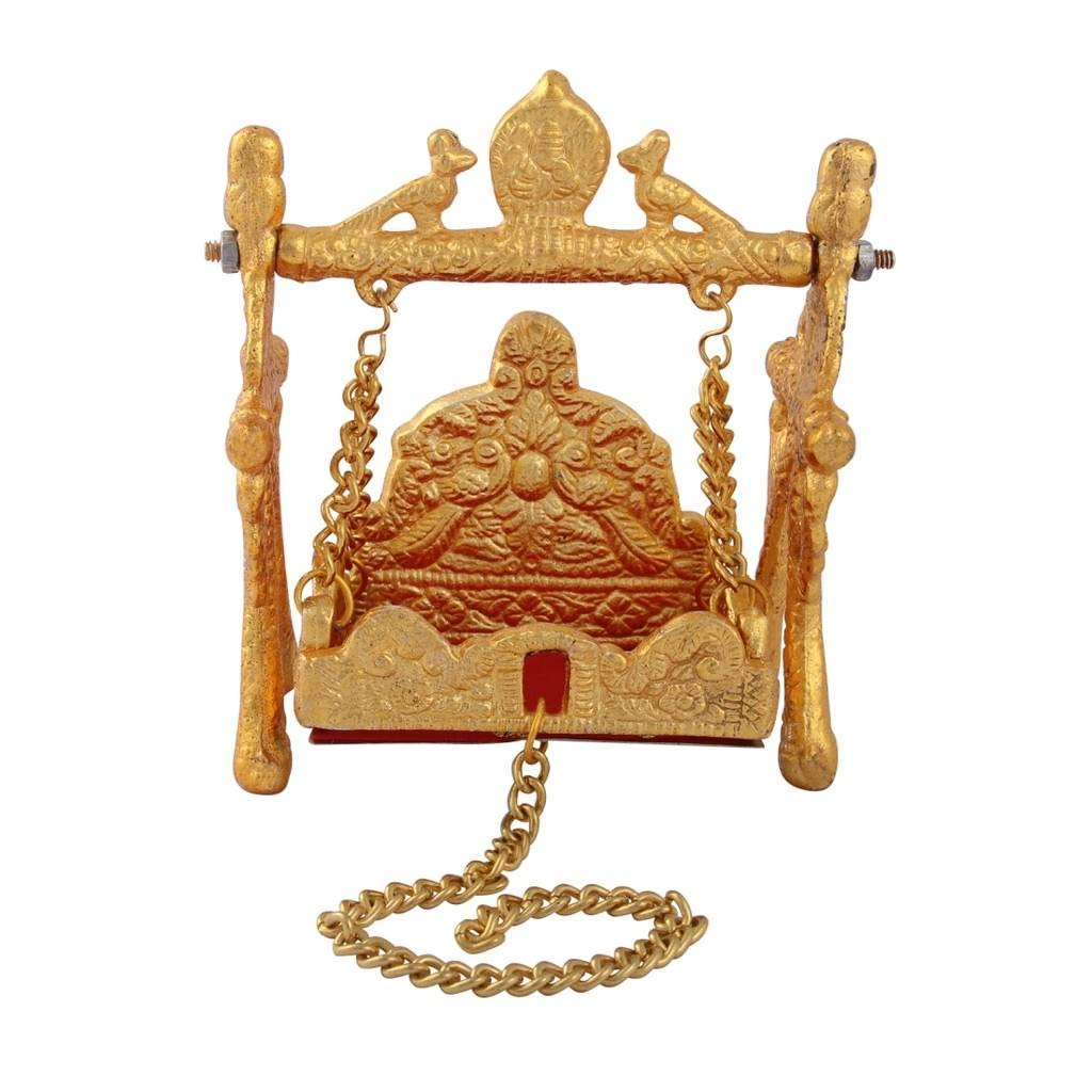 Metal Swing With Hand Carving