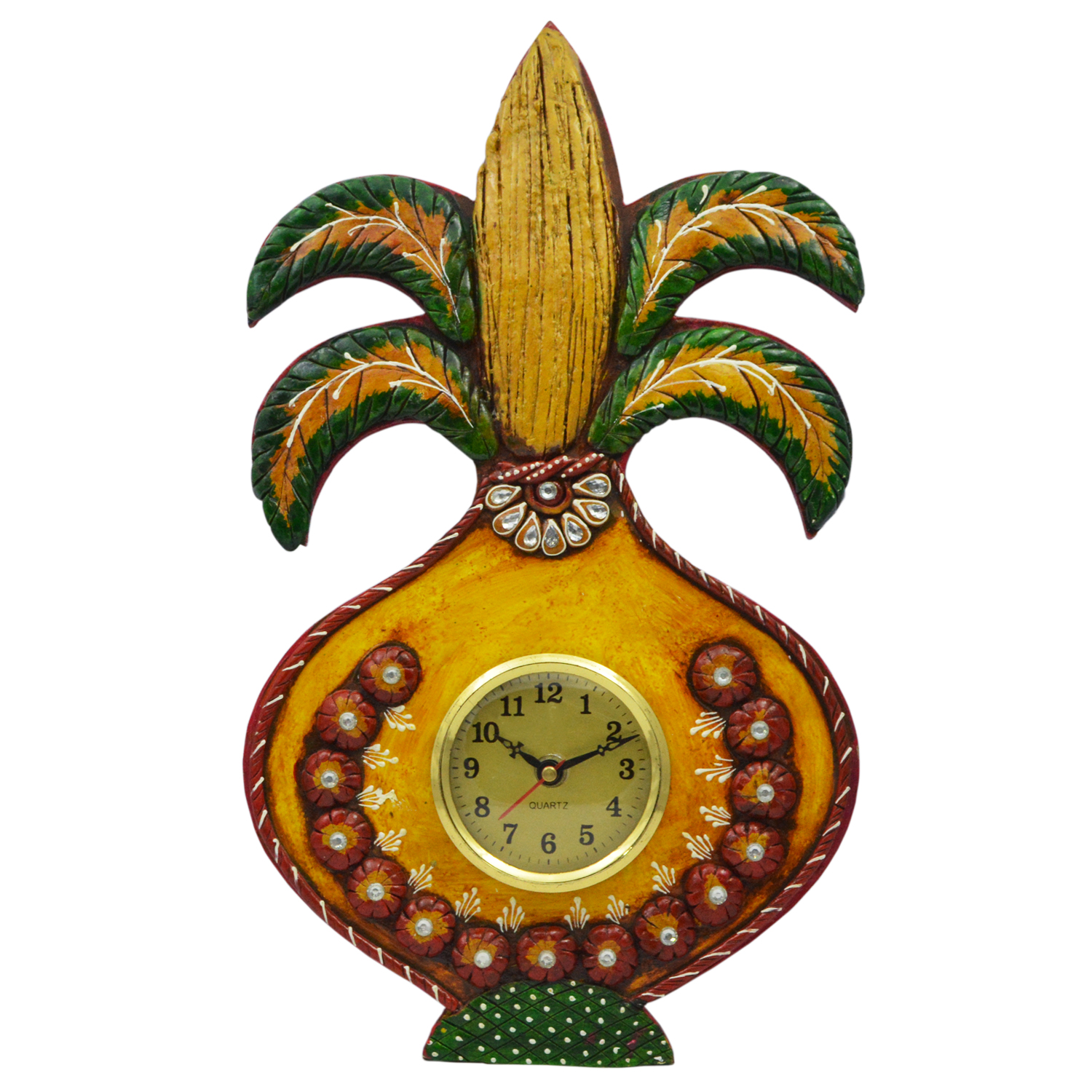 Decorative Clock In A Shape Of Kalash