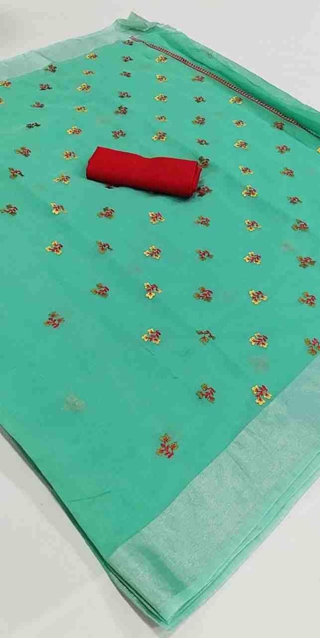 Ajrakh-4 Green Chanderi Saree