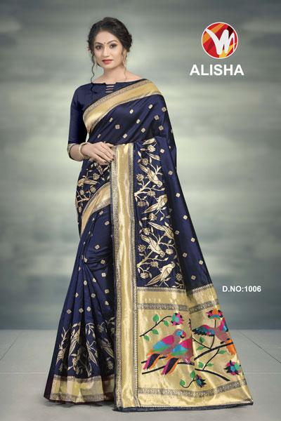 Alisha Voilet Printed Saree
