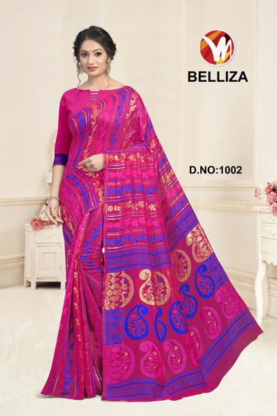 Belliza Magenta Printed Saree