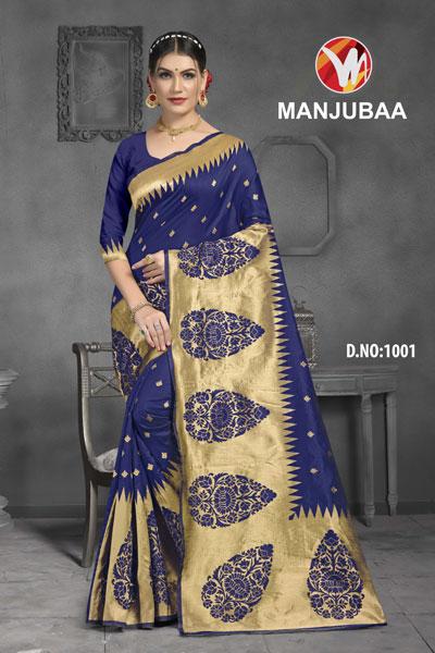 Manjubaa Blue Saree