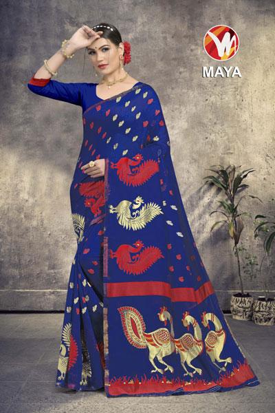 Maya Blue Saree