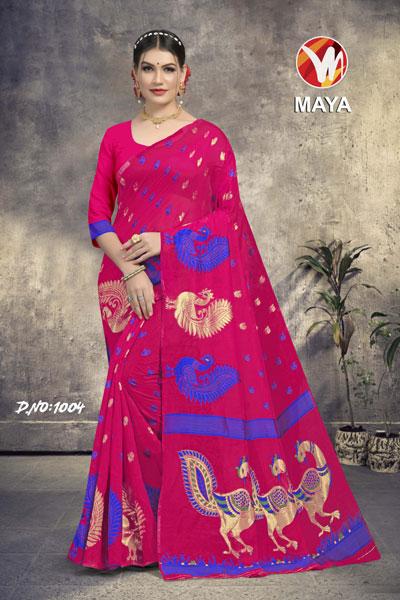 Maya Dark Pink Saree
