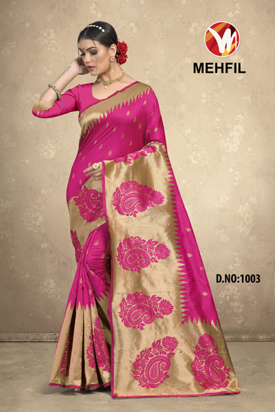 Mehfil Pink Saree