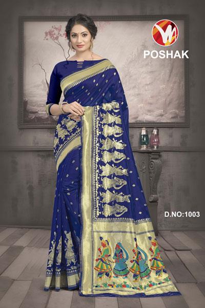 Poshak Blue Saree