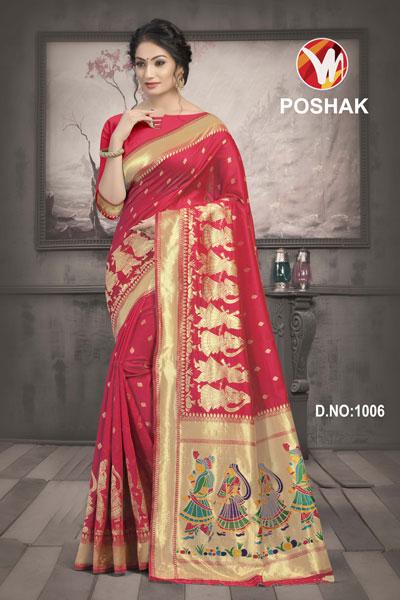 Poshak Red Saree