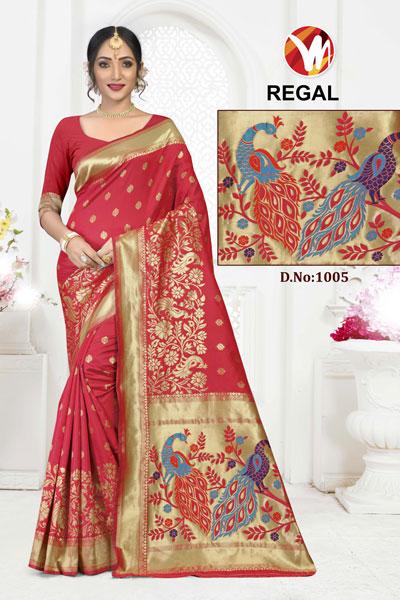 Regal Red Saree