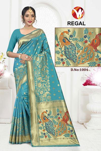 Regal Turquoise Saree