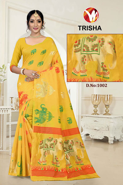 Trisha Yellow Saree