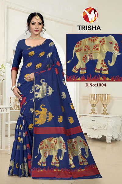 Trisha Blue Saree