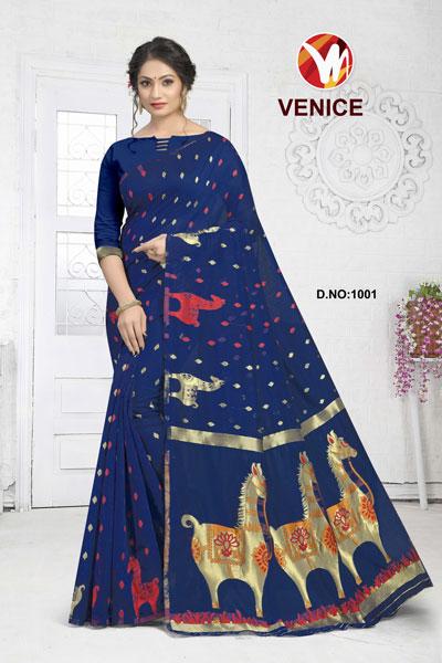 Venice Blue Saree