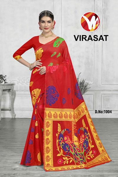 Virasat Red Saree