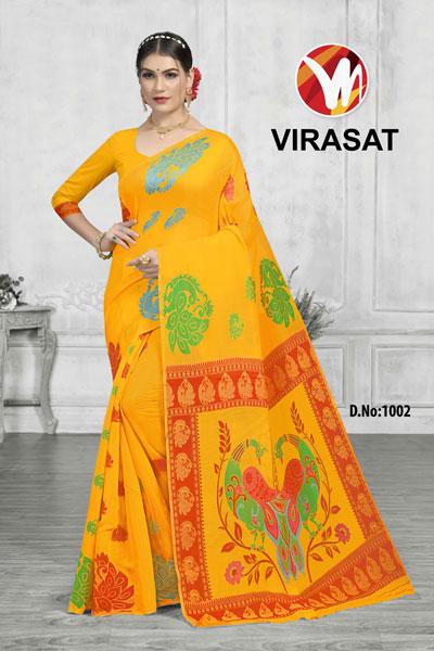 Virasat Yellow Saree