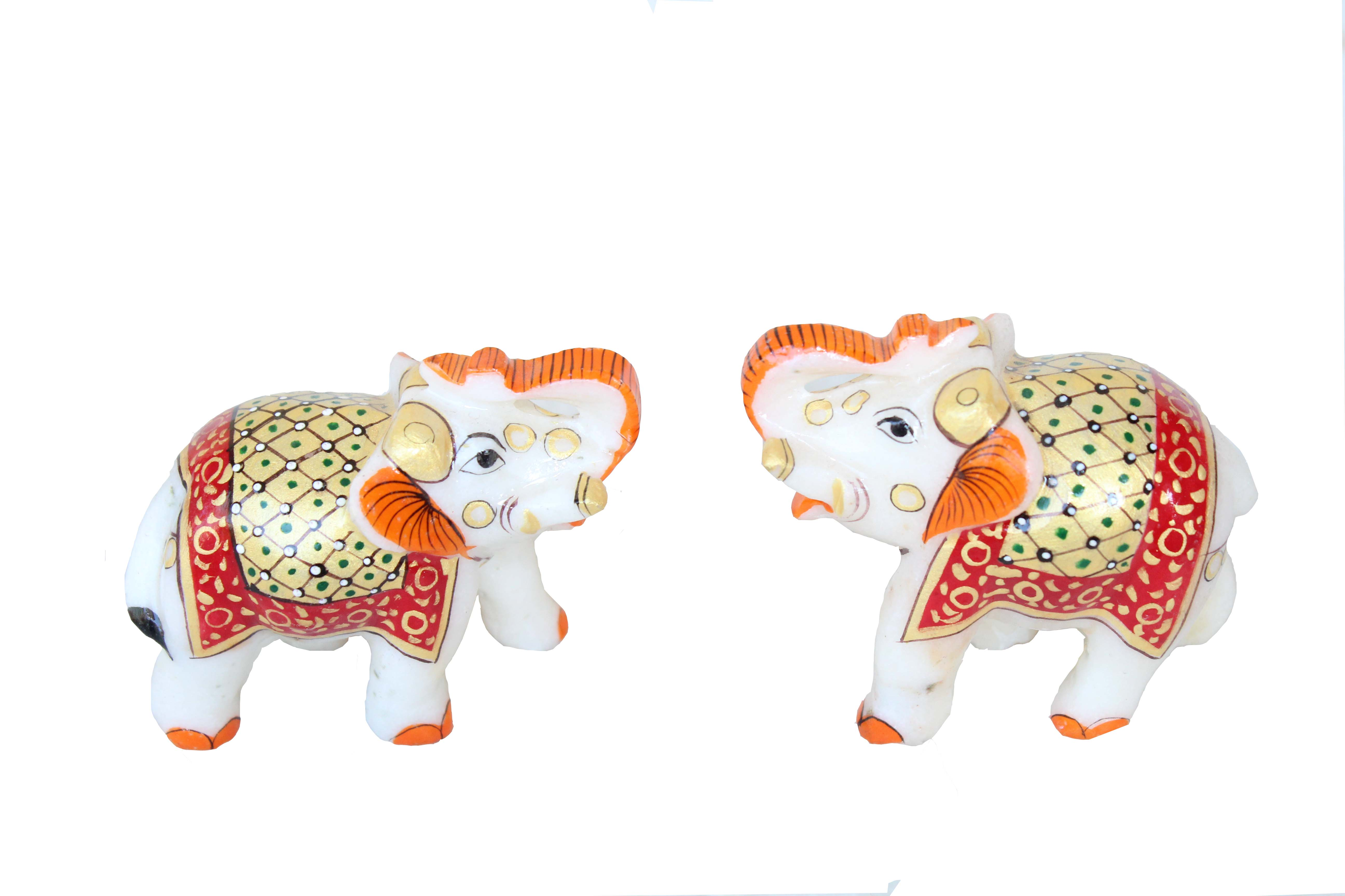 MARBLE UNIQUE ELEPHANT PAIR