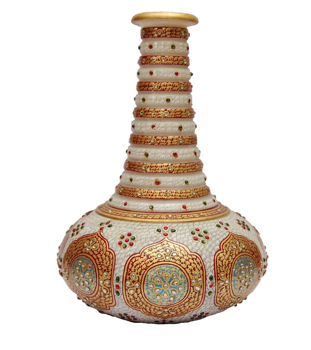 Marble Unique Desigen Vase With Natural And Soft Colour Painitng . Its Look Very Impressive