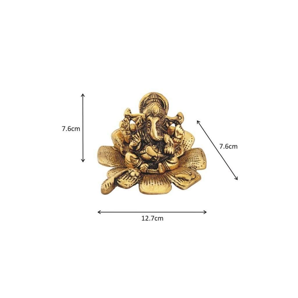 Metal Leaf Ganesh