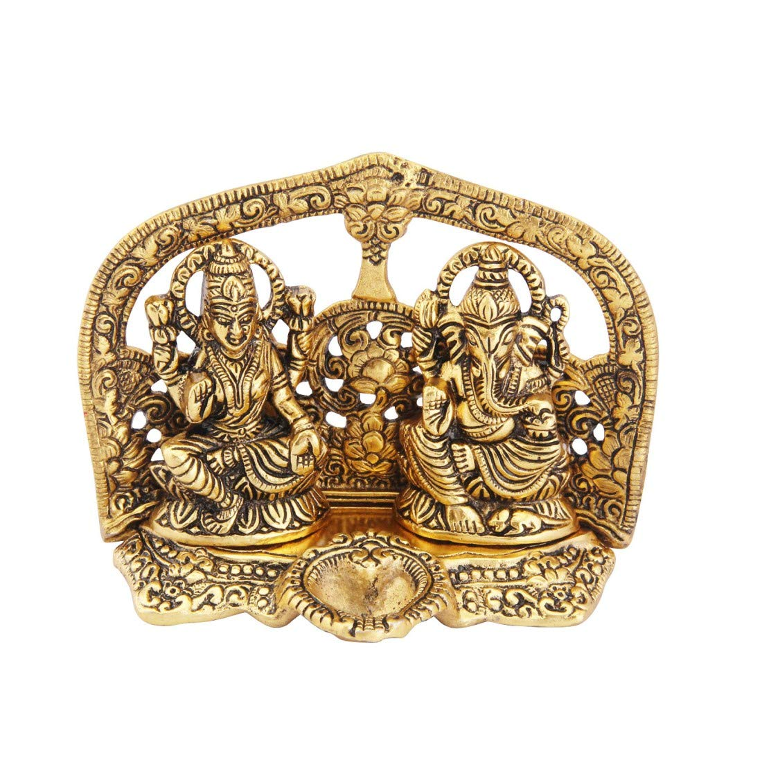 Metal Laxmi Ganesh With Deepak