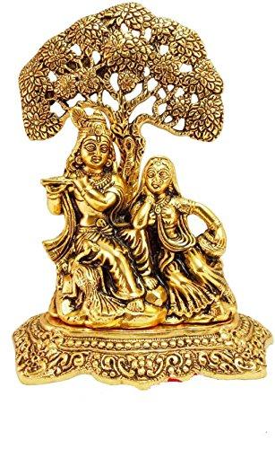 Metal Radha Krishna Statue