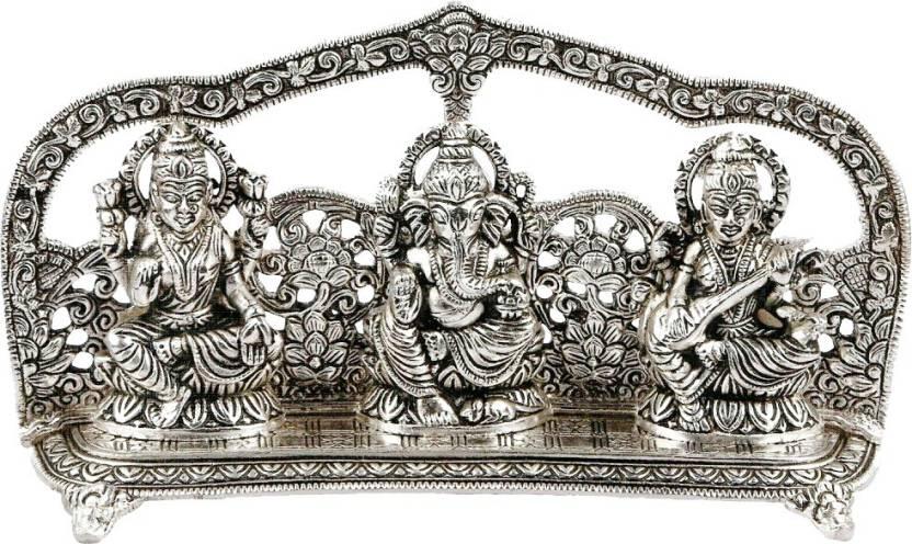 Metal Laxmi Ganesh & Saraswati